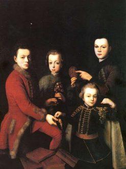 Portrait of Four Children | Jan Kupecky | Oil Painting