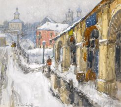 Snowy Townscape | Konstantin Gorbatov | Oil Painting