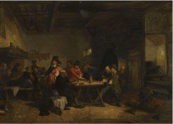 The Gamblers | Herman Frederik Carel ten Kate | Oil Painting