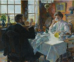 A Cup of Coffee | Ferdinand-Georges Lemmers | Oil Painting