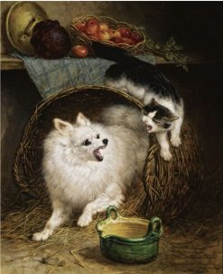 The Intruder   Henriette Ronner-Knip   Oil Painting