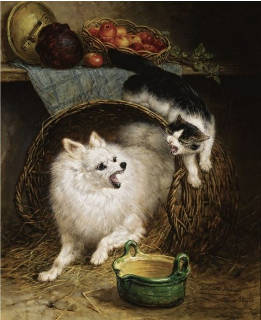 The Intruder | Henriette Ronner-Knip | Oil Painting
