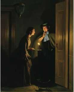 The Late Night Meeting | Johannes Rosierse | Oil Painting