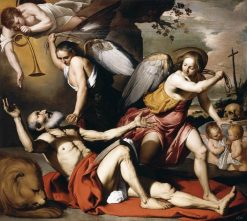 The Vision of St Jerome | Bernardino Mei | Oil Painting