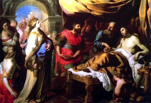 Antiochius and Stratonice | Bernardino Mei | Oil Painting