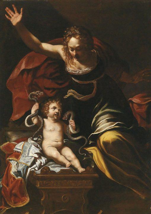 The Childhood of Hercules | Bernardino Mei | Oil Painting