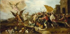 The Battle of Time against Death   Franz Francken the Elder   Oil Painting