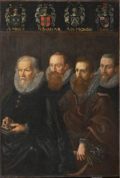 Four Aldermen of Namur | Franz Francken the Elder | Oil Painting