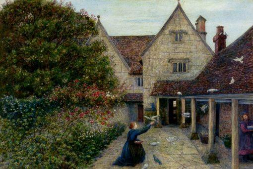 Kelmscott Manor   Marie Spartali Stillman   Oil Painting