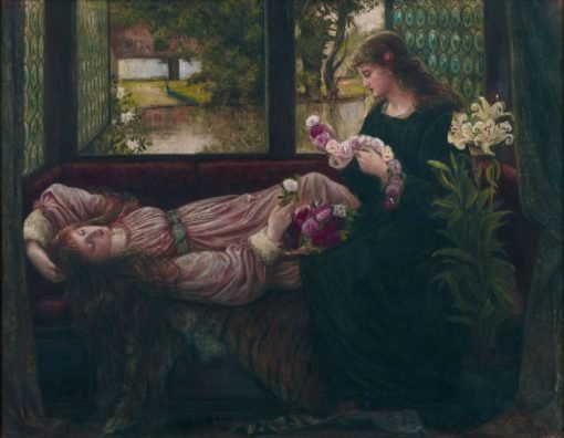 A Wreath of Roses | Marie Spartali Stillman | Oil Painting