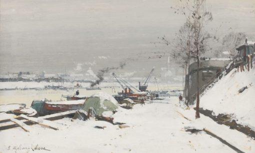 Quai de Bercy sous la neige | Eugene Galien-Laloue | Oil Painting
