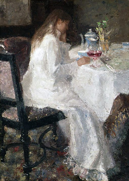 Lady in White | Jan Toorop | Oil Painting