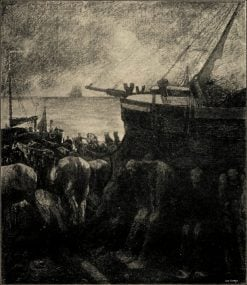 Transport of a boat | Jan Toorop | Oil Painting