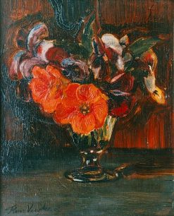 Flowers In A Glass Vase | Floris Verster | Oil Painting
