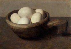 Bowl with Eggs | Floris Verster | Oil Painting