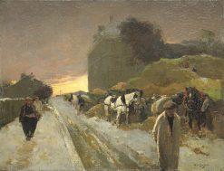 Street at Montmartre in Winter | Willem de Zwart | Oil Painting