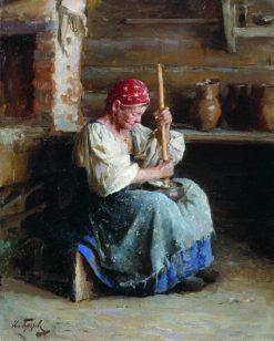 The Butter Churner | Ivan Gorokhov | Oil Painting