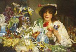 The Florist   Edgar Bundy   Oil Painting