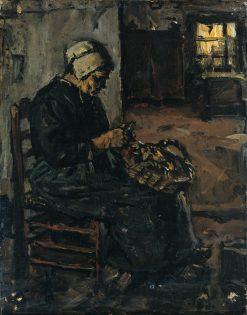 Peasant Woman Peeling Potatoes | Suze Robertson | Oil Painting