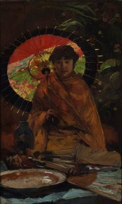 Girl with Japanese Parasol | Willem de Zwart | Oil Painting