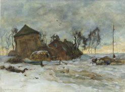 Winter Landscape   Willem de Zwart   Oil Painting