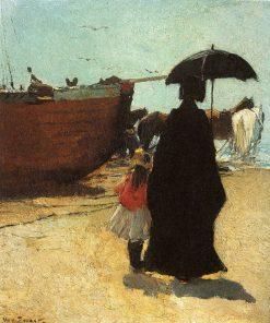 At the Beach | Willem de Zwart | Oil Painting