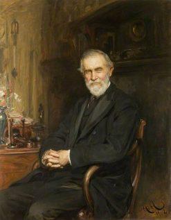 Sir Hermann David Weber   Hubert von Herkomer   Oil Painting