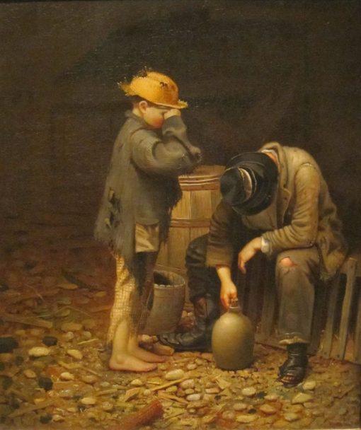 Temperance Lecture | Edward Edmondson | Oil Painting