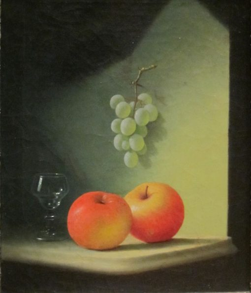Still-life with Apples and Grapes | Edward Edmondson | Oil Painting