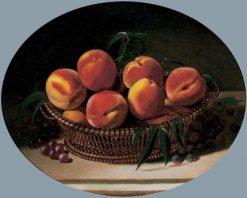 A Basket of Peaches | Edward Edmondson | Oil Painting