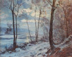 The Hudson in Winter | Hal Robinson | Oil Painting
