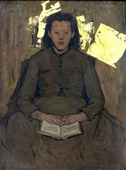 Girl with a Book | Suze Robertson | Oil Painting