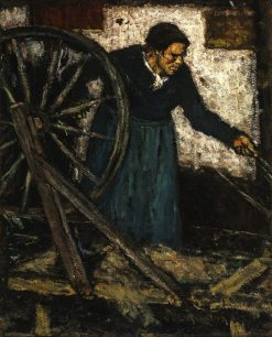 Woman spinning | Suze Robertson | Oil Painting