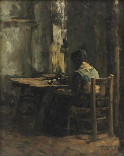 Woman at a table in an interior | Suze Robertson | Oil Painting