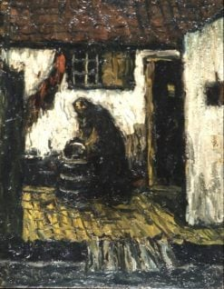 Woman in a courtyard | Suze Robertson | Oil Painting