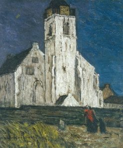 Church in Katwijk | Suze Robertson | Oil Painting