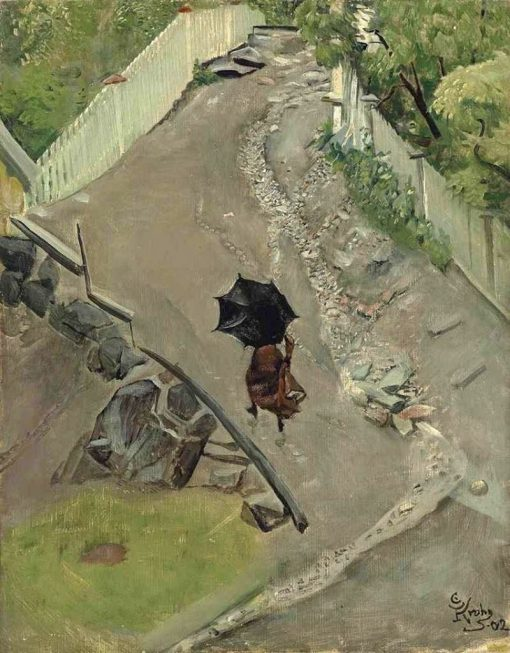 The Umbrella | Christian Krohg | Oil Painting