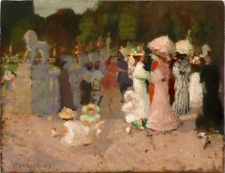 Paris park scene | Emanuel Phillips Fox | Oil Painting