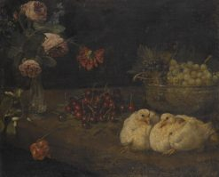 A still life with grapes in a bowl