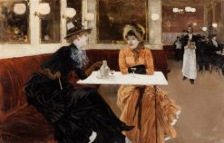 In the Cafe | Fernand H. Lungren | Oil Painting