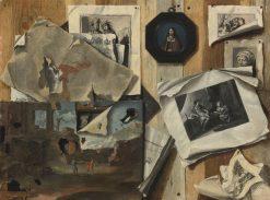 Trompe loeil still life   Sebastiano Lazzari   Oil Painting