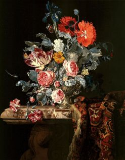 A still life of flowers | Hendrik de Fromantiou | Oil Painting