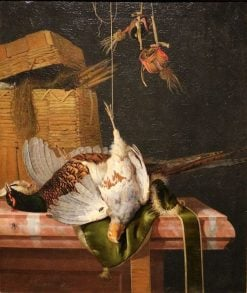 Still Life with Game   Hendrik de Fromantiou   Oil Painting