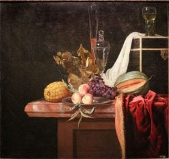 Still Life with Fruit and Glasses | Hendrik de Fromantiou | Oil Painting