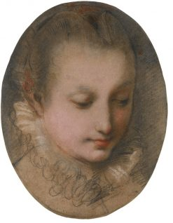 Study of the head of a young lady | Federico Barocci | Oil Painting