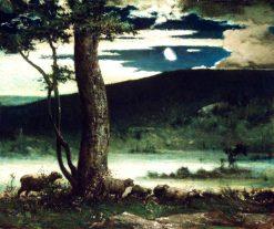 Midnight Moon | Elliott Daingerfield | Oil Painting
