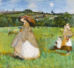 The fine lady   George John Pinwell   Oil Painting