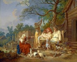 The Russian Cradle | Jean Baptiste Le Prince | Oil Painting