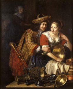 Le Trompette et la Servante | Pieter Leermans | Oil Painting