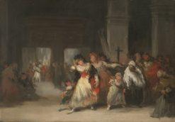 The Church Interior | Eugenio Lucas Velazquez | Oil Painting